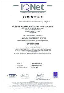 IQNet & QAS ISO 9001:2008