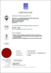 SIRIM QAS Certificate